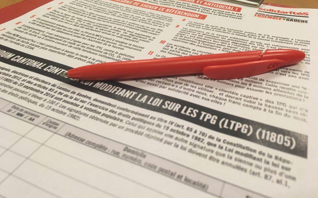Un grand OUI à la loi proposée par EàG pour renforcer les droits populaires