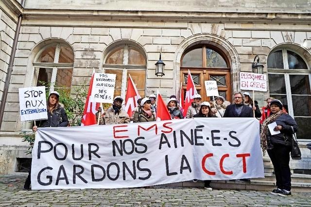 EàG soutient le personnel en lutte des Résidences Notre-Dame et Plantamour !