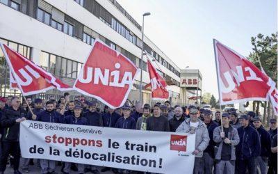 Délocalisation d'ABB: EàG obtient le soutien du Grand Conseil aux employés en lutte!