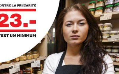 L'initiative « 23 frs, c'est un minimum ! » validée par le Conseil d'Etat
