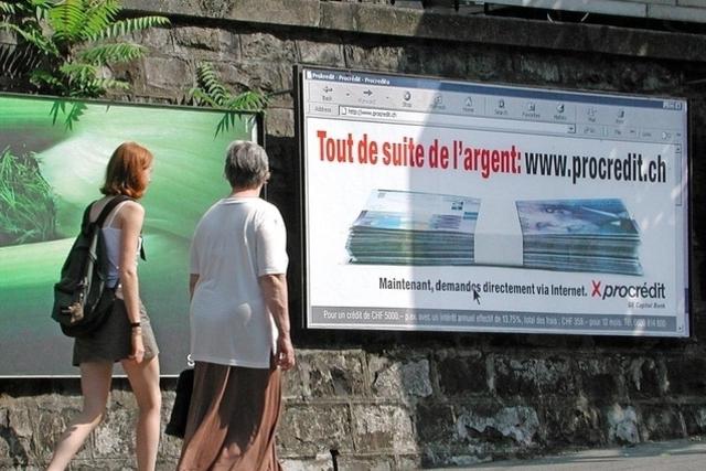 Pour restreindre l'affichage de publicité pour le petit crédit