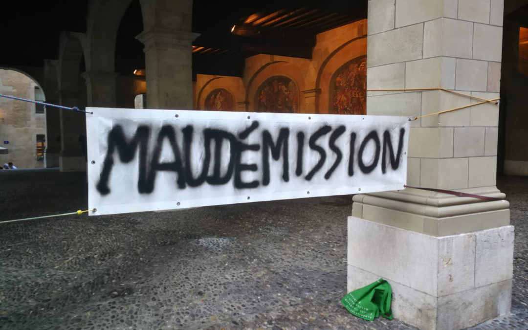 Maudet, démission!