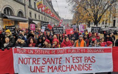 Stop à la hausse des primes d'assurance maladie: 1000 personnes dans les rues de Genève!