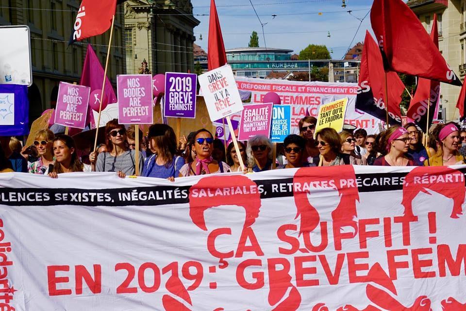 Deux projets pour l'égalité: pas d'examens le 14 juin 2019 (grève féministe) et démasculiniser la législation!